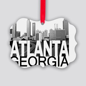 Atlanta Skyline Picture Ornament